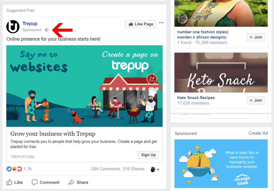 Native Facebook Ads Example