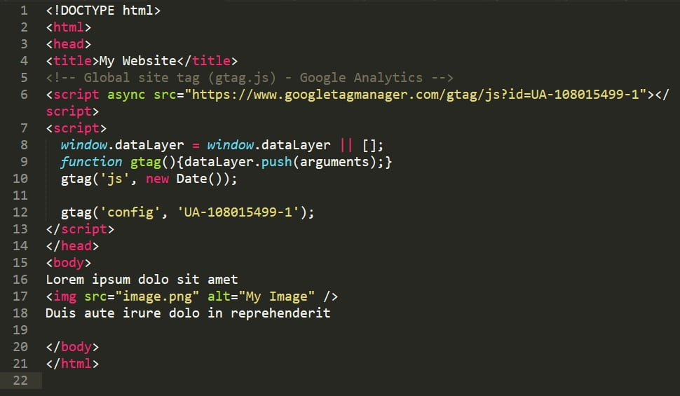 Installing Analytics Tracking Code