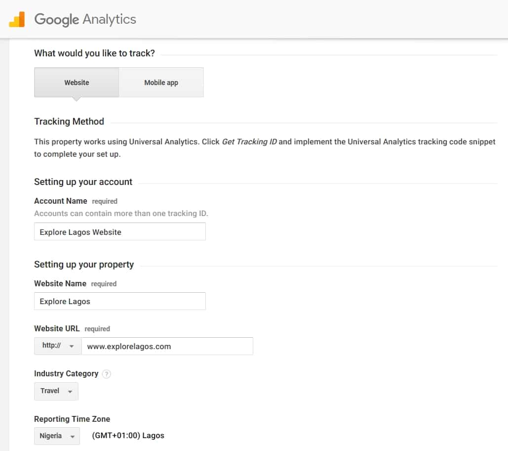 Analytics Account Setup Guide