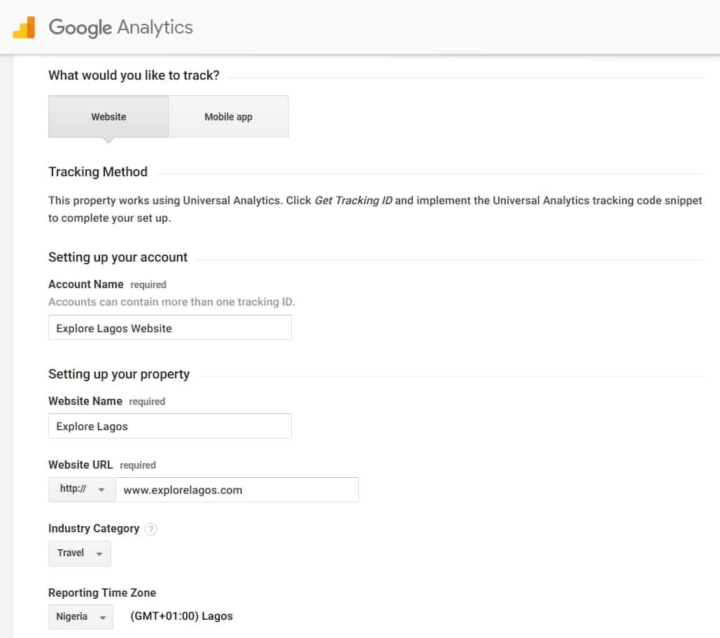 Analytics Account Setup Guide